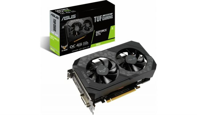 Karta-graficzna-ASUS-GeForce-GTX-1650-TUF-Gaming-OC-4GB-front